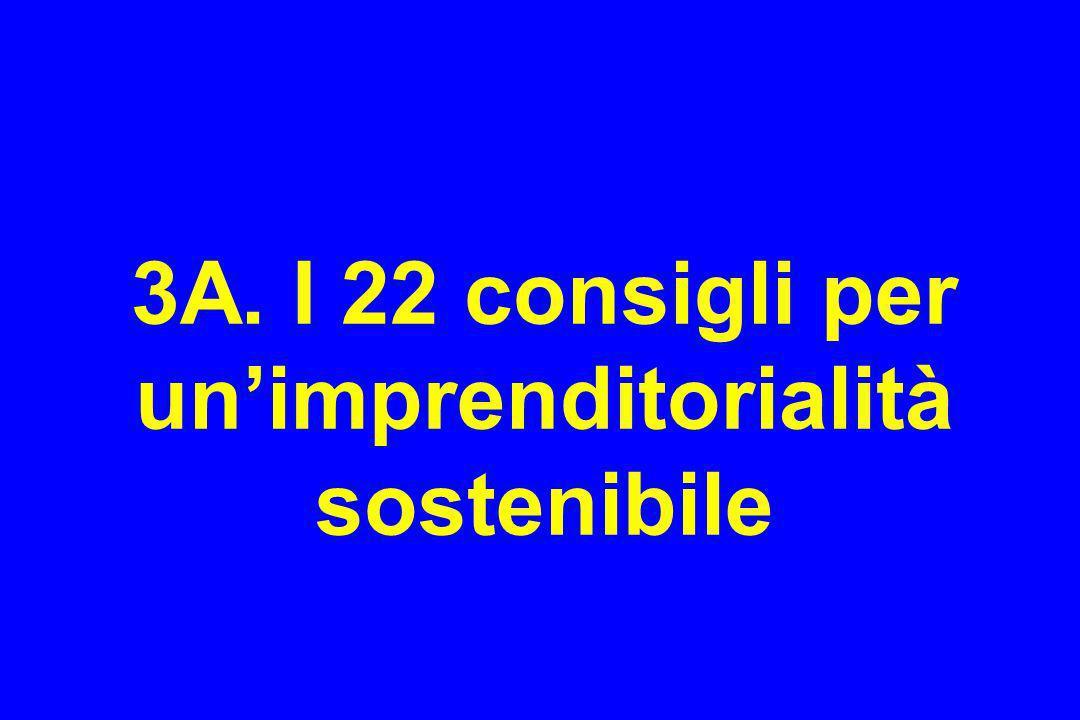 3A. I 22 consigli per unimprenditorialità sostenibile