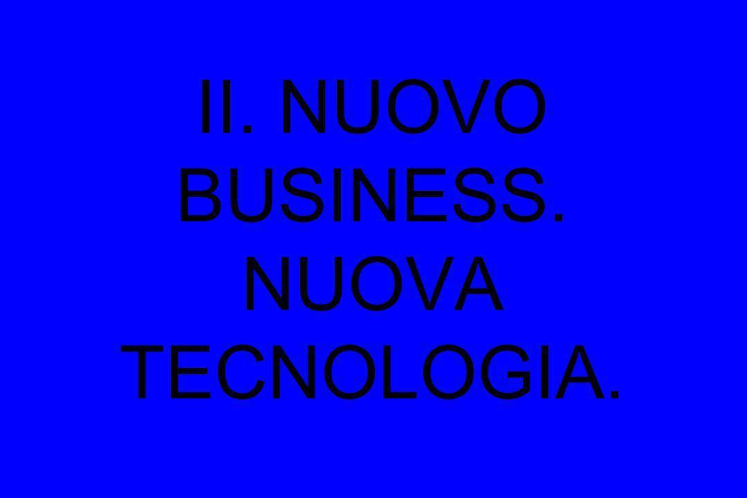 II. NUOVO BUSINESS. NUOVA TECNOLOGIA.