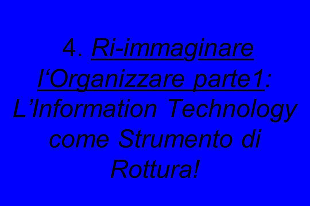 4. Ri-immaginare lOrganizzare parte1: LInformation Technology come Strumento di Rottura!