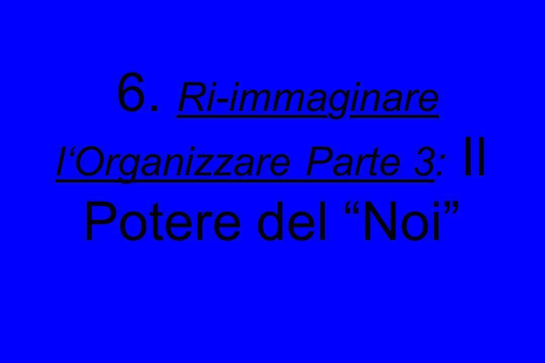 6. Ri-immaginare lOrganizzare Parte 3: Il Potere del Noi