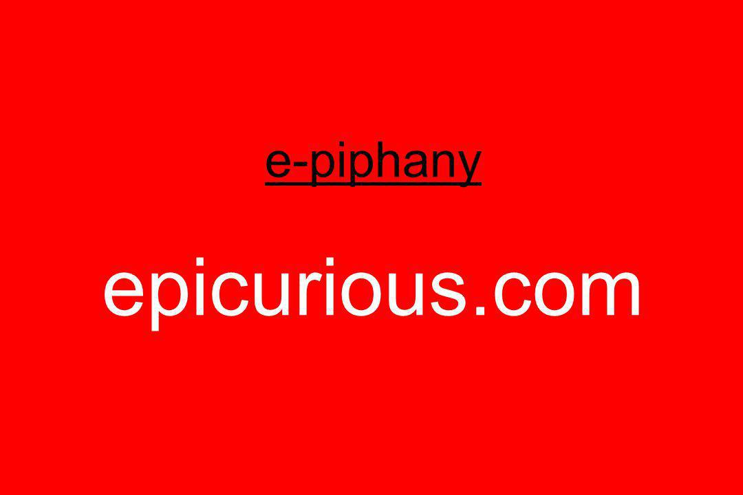 e-piphany epicurious.com