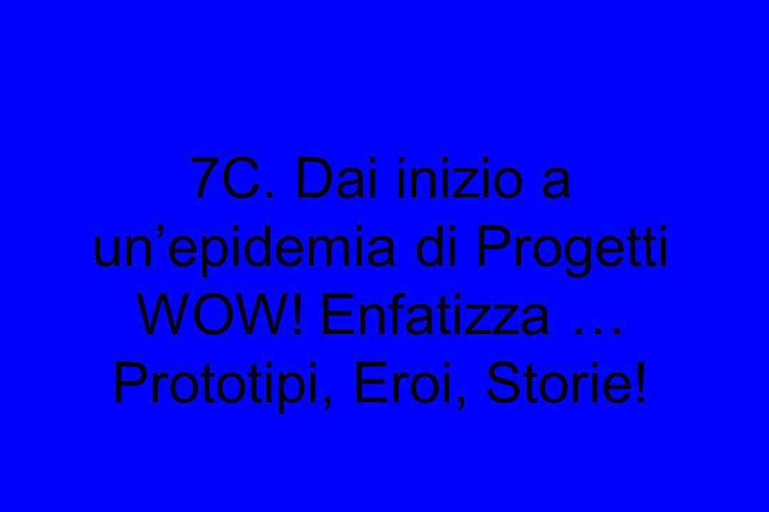 7C. Dai inizio a unepidemia di Progetti WOW! Enfatizza … Prototipi, Eroi, Storie!