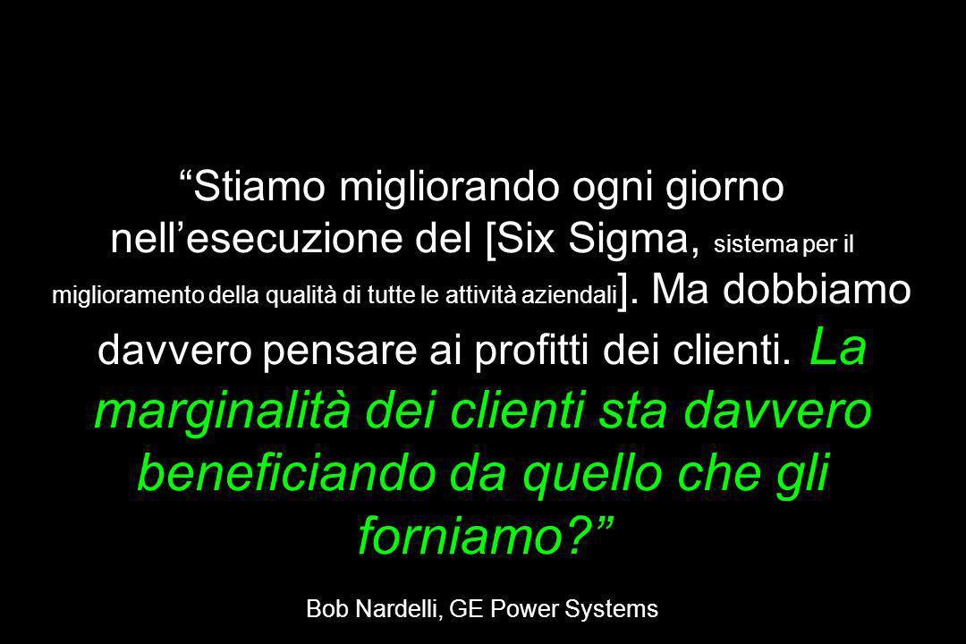 Dalla Soddisfazione del Cliente al Successo del Cliente Stiamo migliorando ogni giorno nellesecuzione del [Six Sigma, sistema per il miglioramento del