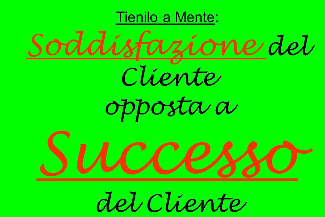 Tienilo a Mente: Soddisfazione del Cliente opposta a Successo del Cliente
