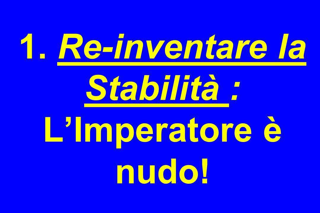 1. Re-inventare la Stabilità : LImperatore è nudo!