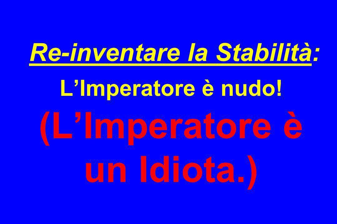 Re-inventare la Stabilità: LImperatore è nudo! (LImperatore è un Idiota.)