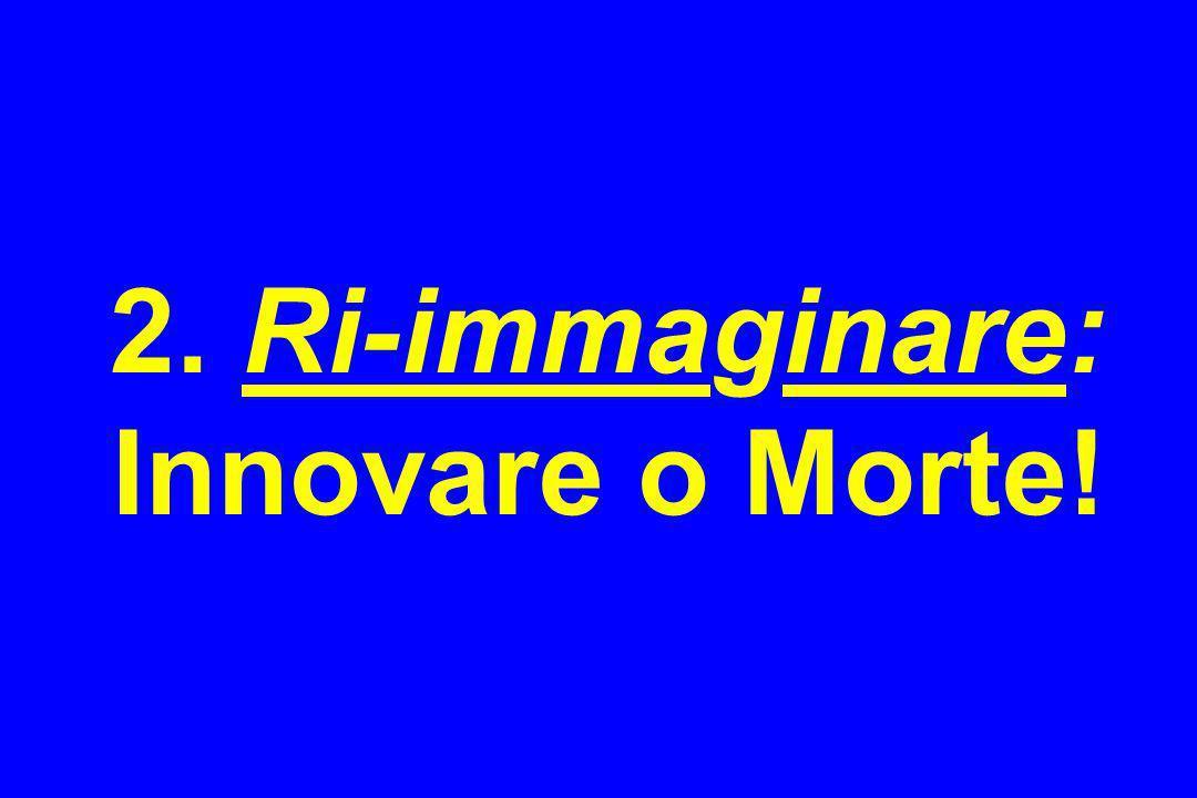 2. Ri-immaginare: Innovare o Morte!