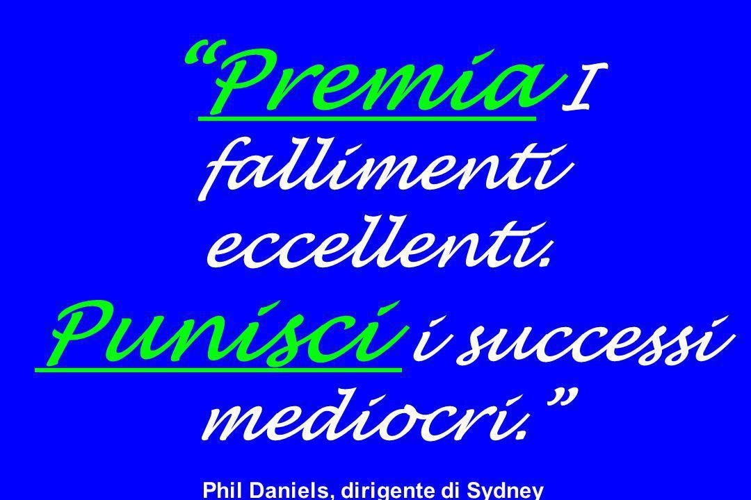 Premia I fallimenti eccellenti. Punisci i successi mediocri. Phil Daniels, dirigente di Sydney