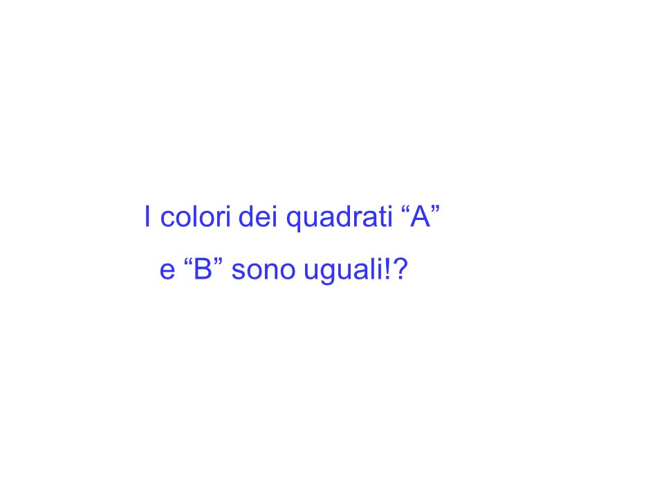 I colori dei quadrati A e B sono uguali!?