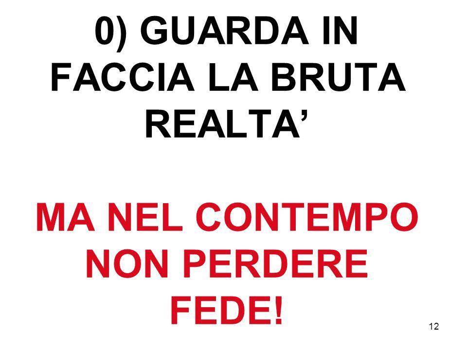 12 0) GUARDA IN FACCIA LA BRUTA REALTA MA NEL CONTEMPO NON PERDERE FEDE!