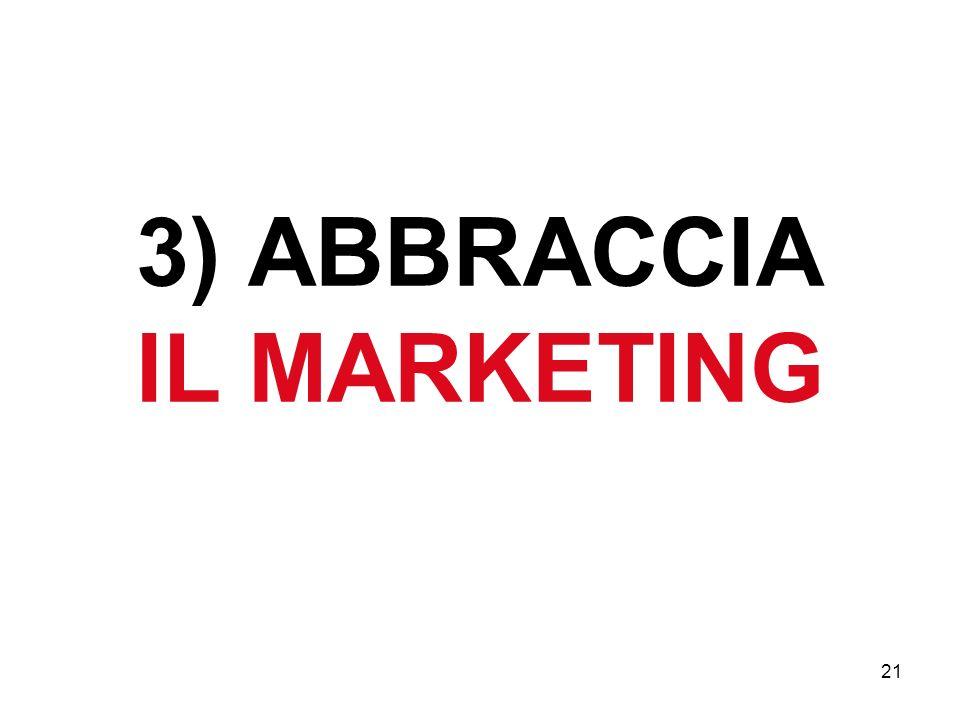 21 3) ABBRACCIA IL MARKETING