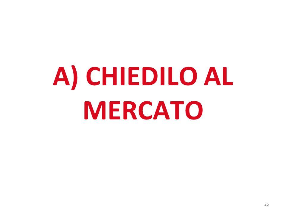 25 A) CHIEDILO AL MERCATO