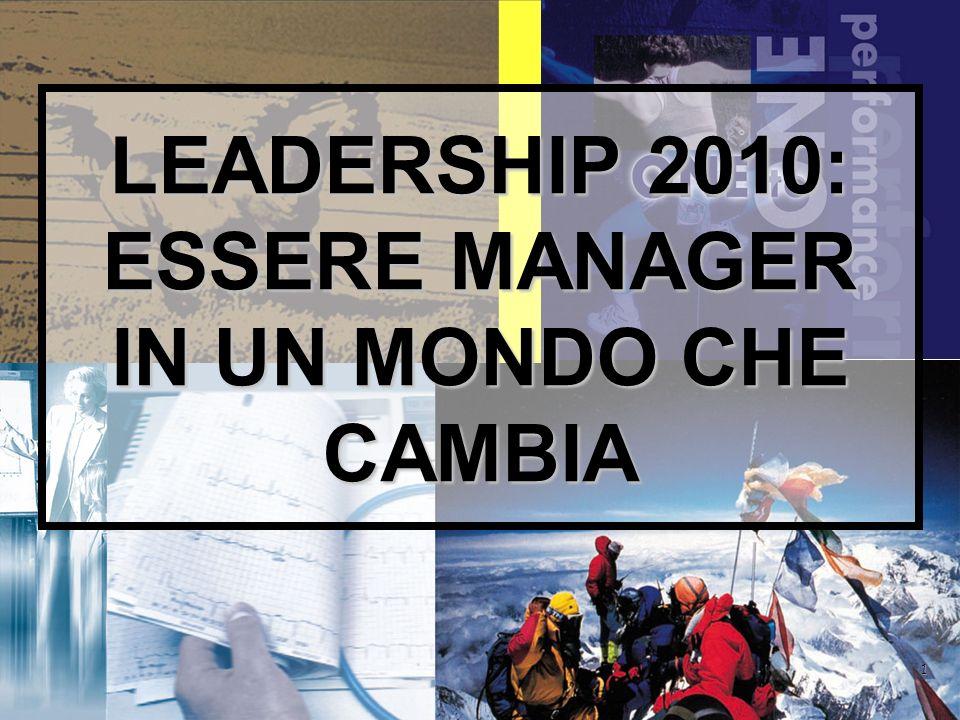 1 LEADERSHIP 2010: ESSERE MANAGER IN UN MONDO CHE CAMBIA