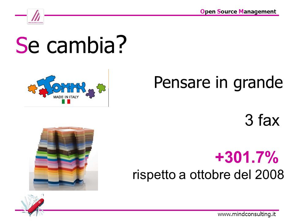 Open Source Management   Pensare in grande Se cambia .