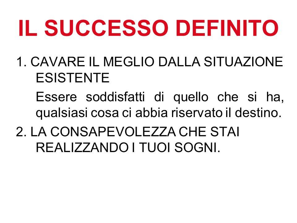 IL SUCCESSO DEFINITO 1.