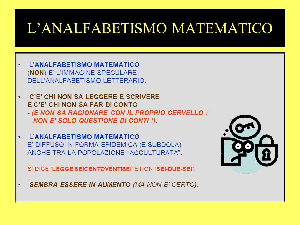 LINTELLIGENZA MATEMATICA PER CAPIRE LA MATEMATICA OCCORRONO DOTI SPECIALI.