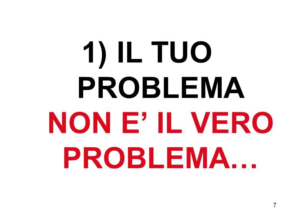 7 1) IL TUO PROBLEMA NON E IL VERO PROBLEMA…