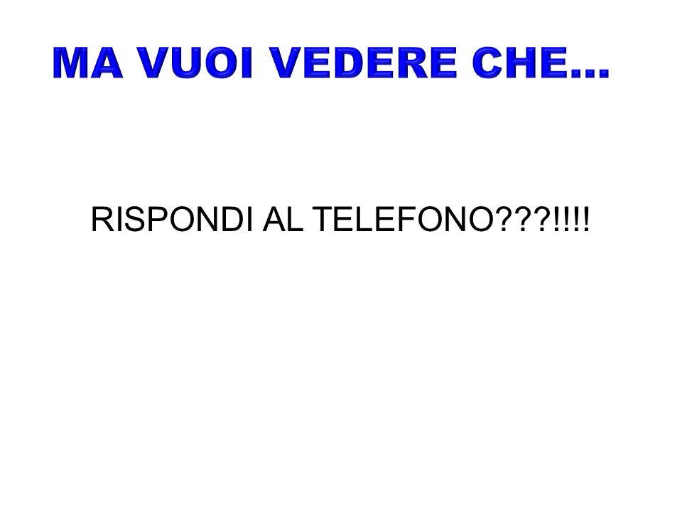 RISPONDI AL TELEFONO !!!!