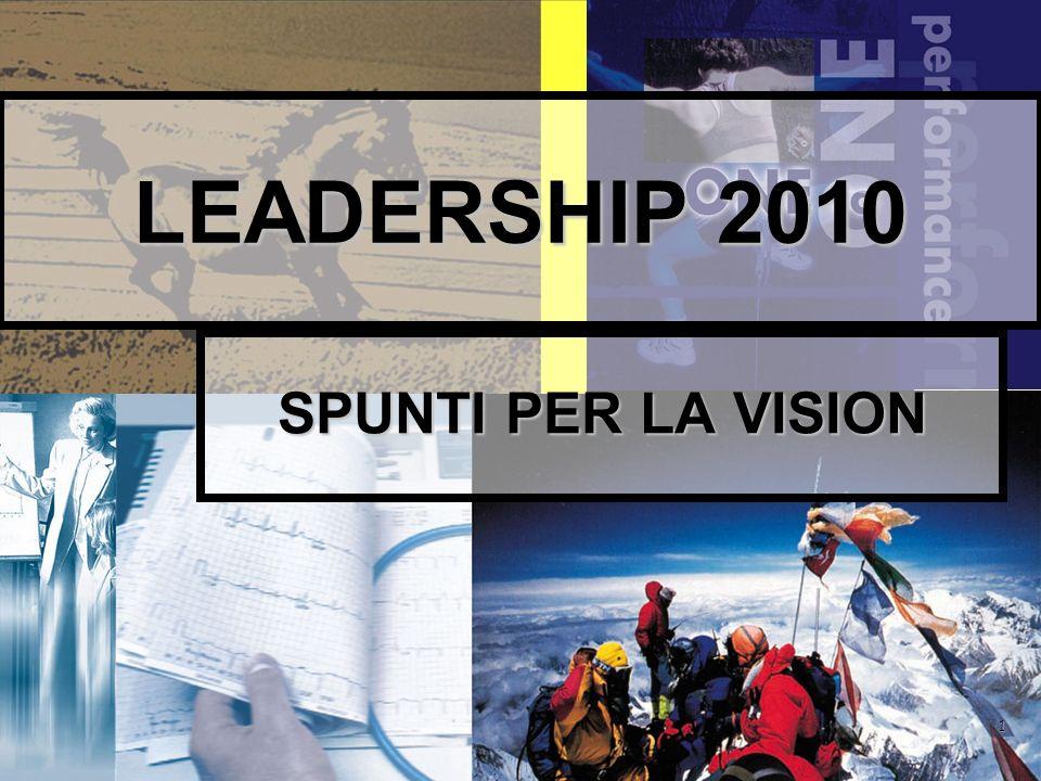 1 LEADERSHIP 2010 SPUNTI PER LA VISION