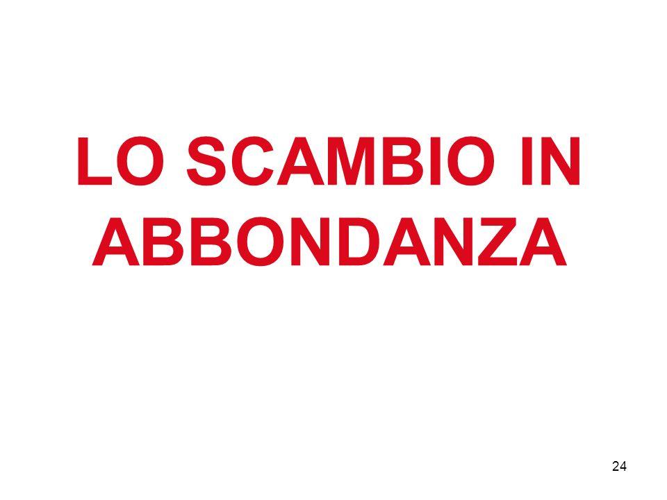 24 LO SCAMBIO IN ABBONDANZA