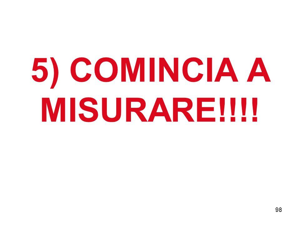 98 5) COMINCIA A MISURARE!!!!
