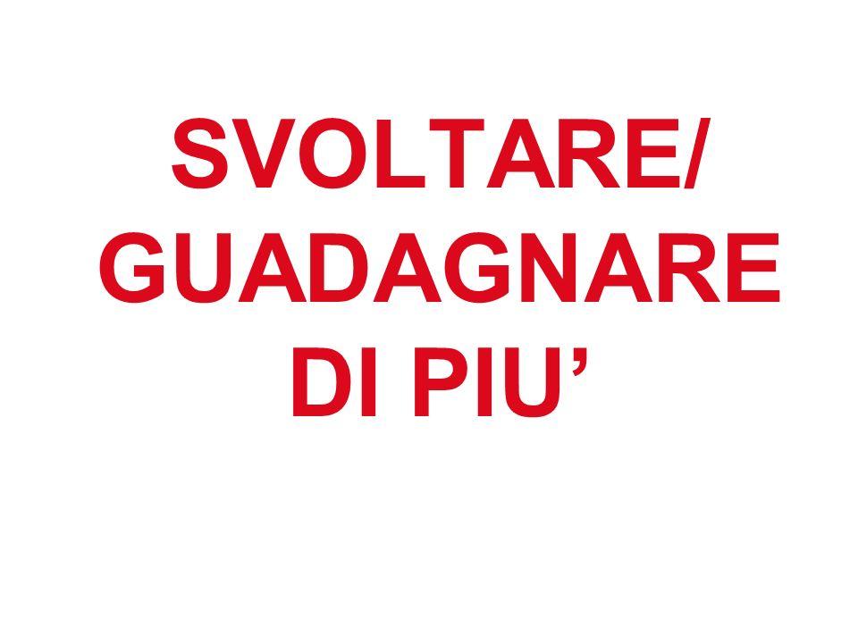 SVOLTARE/ GUADAGNARE DI PIU