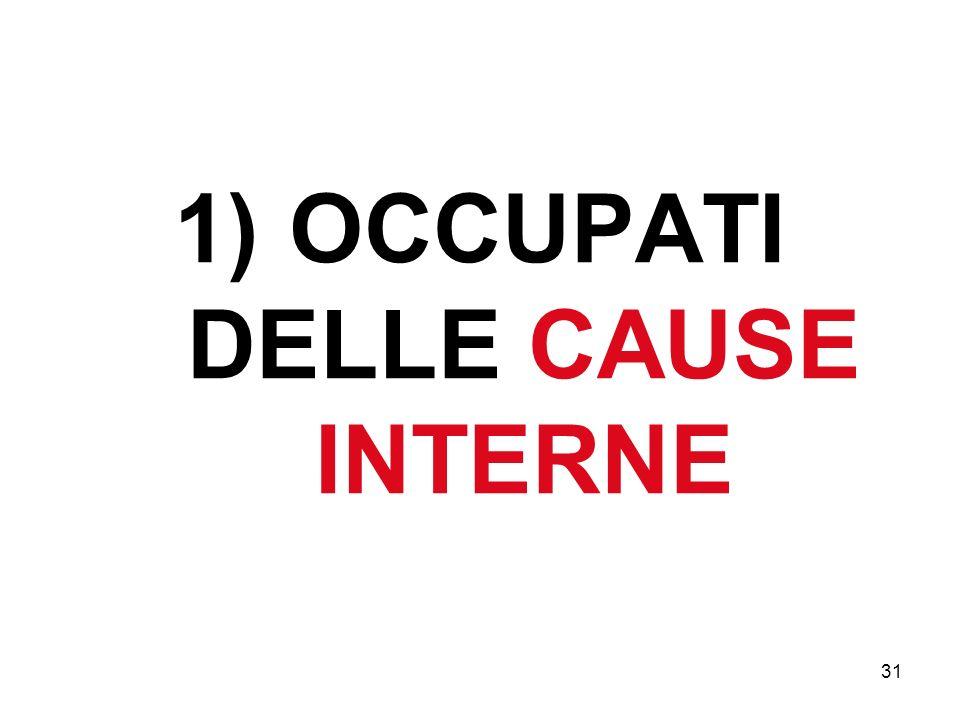 31 1) OCCUPATI DELLE CAUSE INTERNE