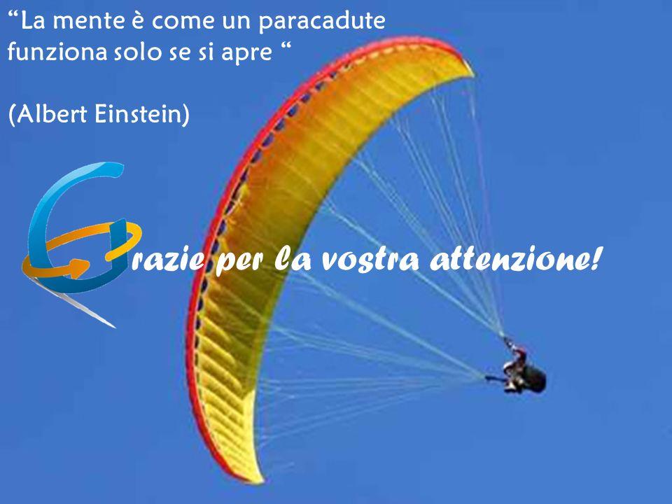 La mente è come un paracadute funziona solo se si apre (Albert Einstein) razie per la vostra attenzione!