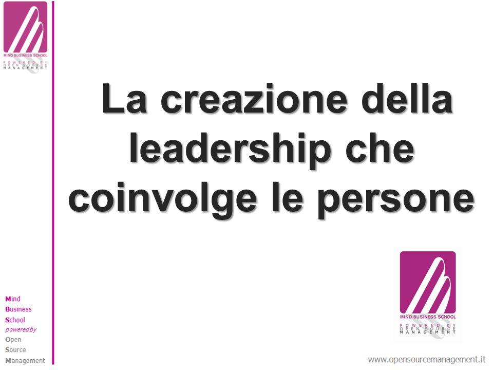 La creazione della leadership che coinvolge le persone La creazione della leadership che coinvolge le persone