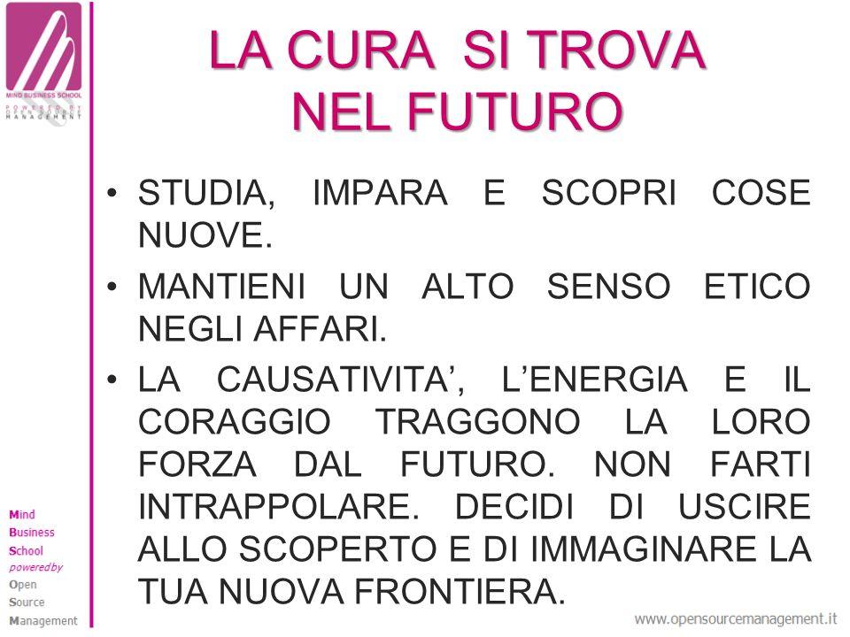 LA CURA SI TROVA NEL FUTURO STUDIA, IMPARA E SCOPRI COSE NUOVE.
