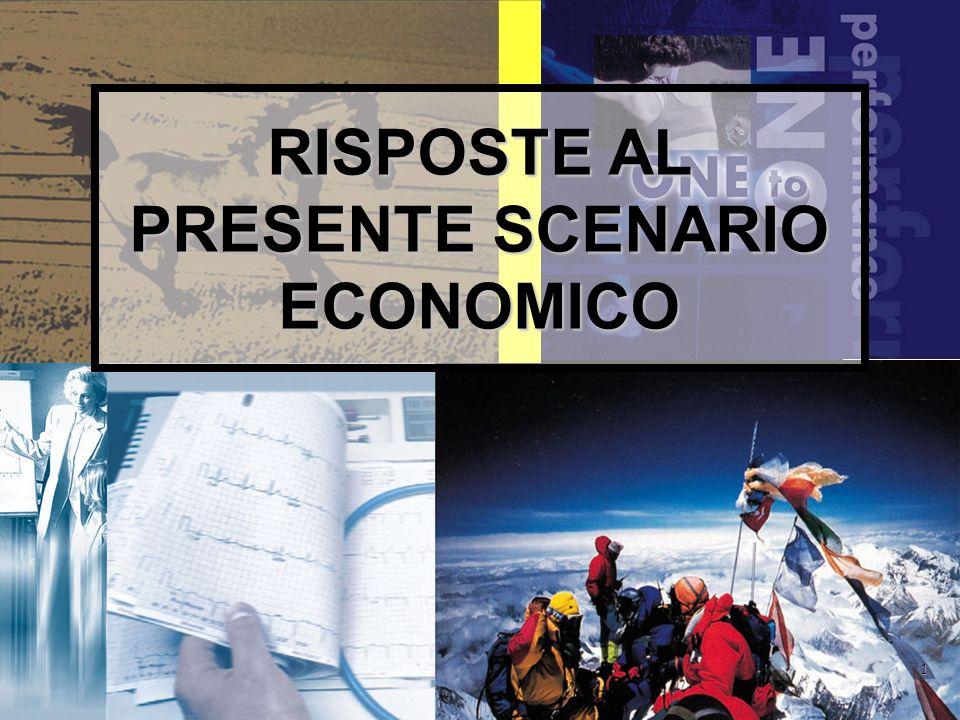 1 RISPOSTE AL PRESENTE SCENARIO ECONOMICO