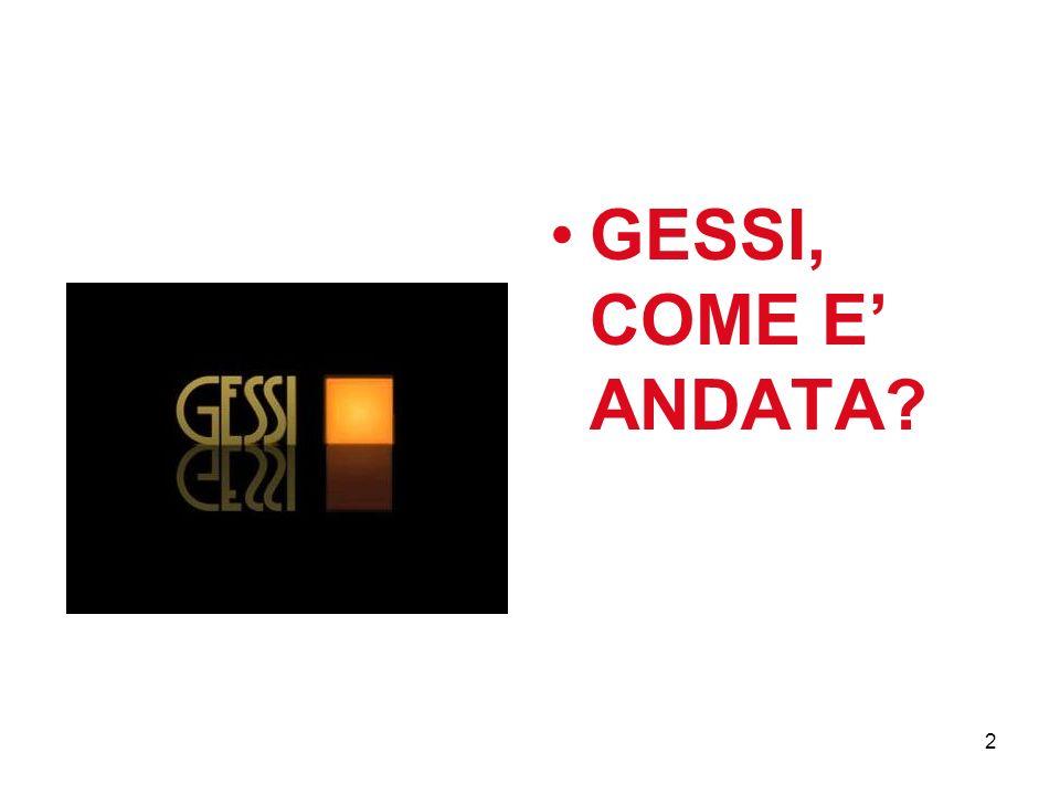 2 GESSI, COME E ANDATA