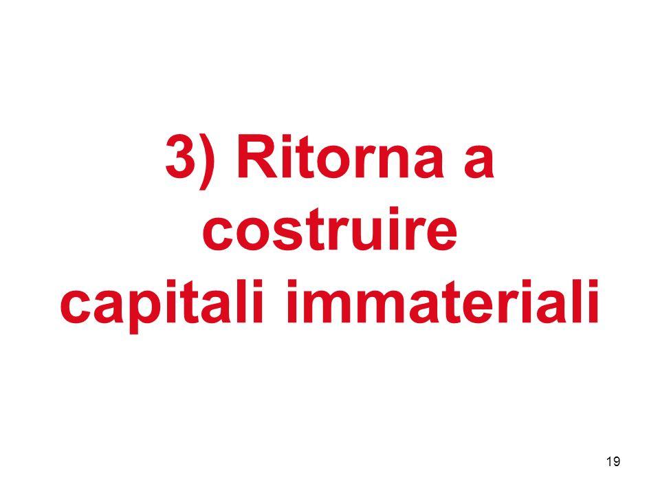 19 3) Ritorna a costruire capitali immateriali