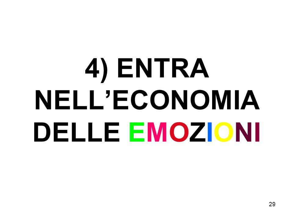 29 4) ENTRA NELLECONOMIA DELLE EMOZIONI