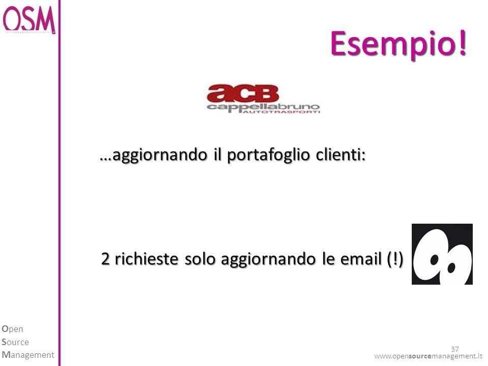 O pen S ource M anagement www.opensourcemanagement.it 37 Esempio!Esempio.