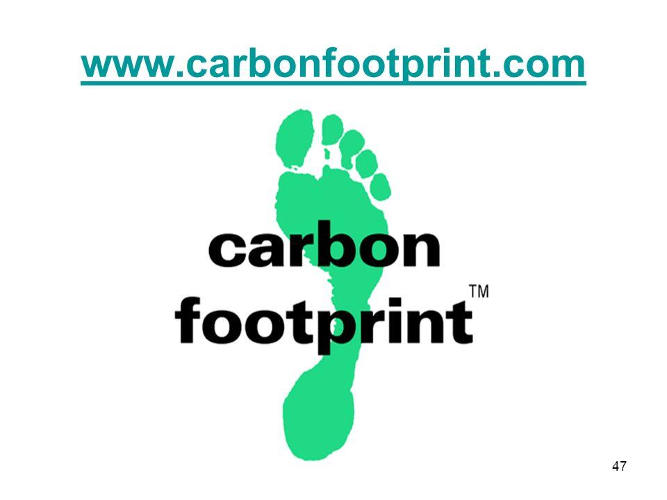 47 www.carbonfootprint.com