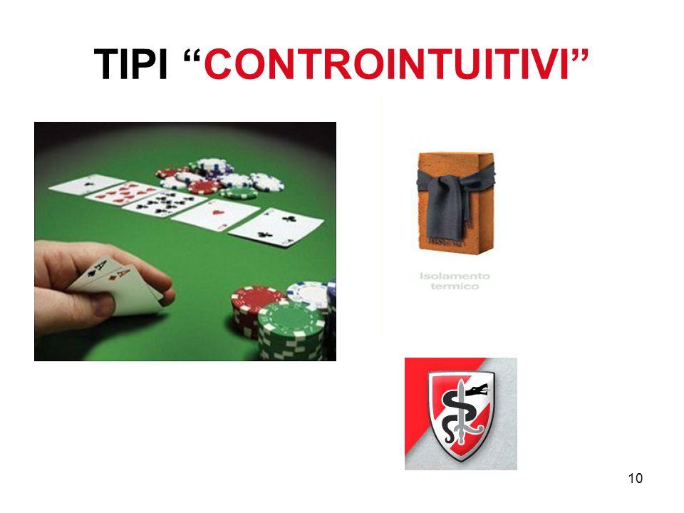 10 TIPI CONTROINTUITIVI