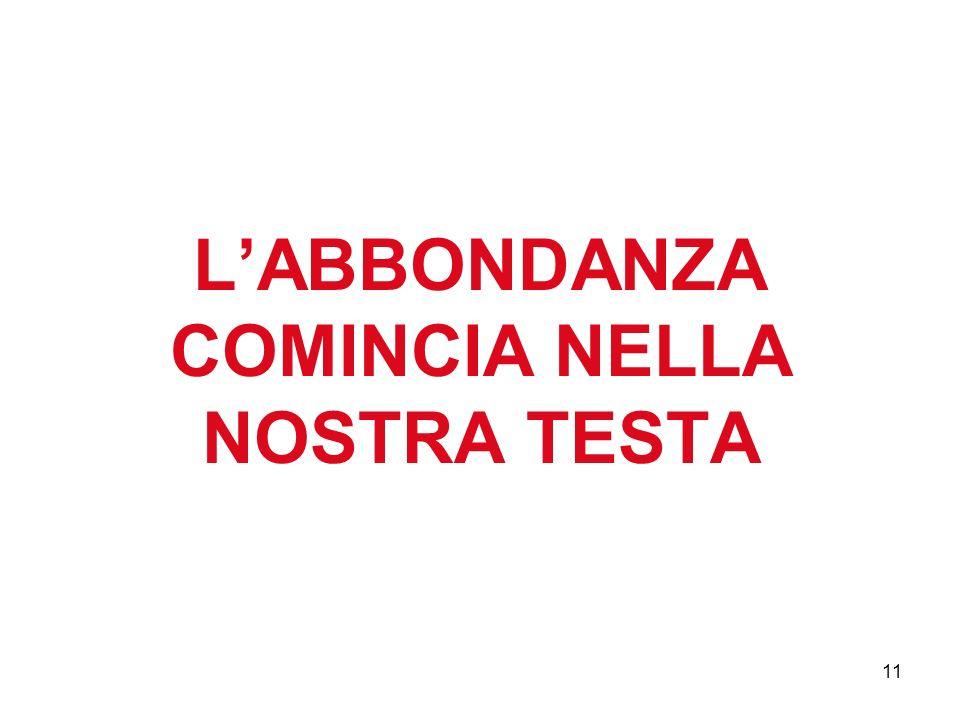 11 LABBONDANZA COMINCIA NELLA NOSTRA TESTA