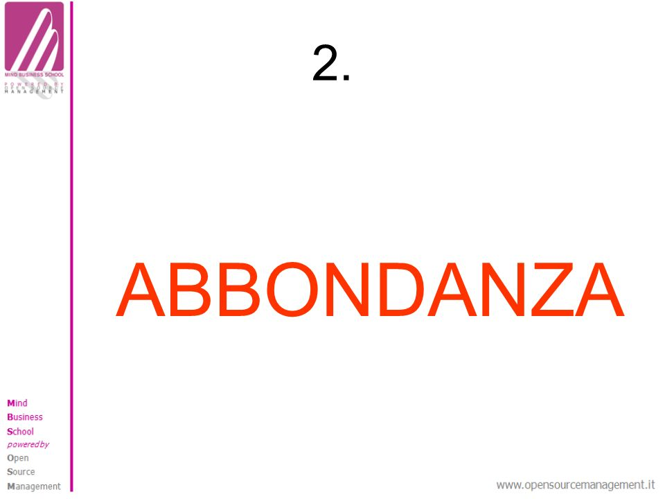 2. ABBONDANZA