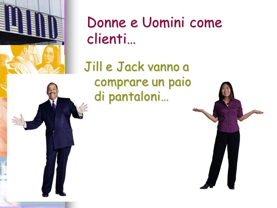 6 Donne e Uomini come clienti… Jill e Jack vanno a comprare un paio di pantaloni…
