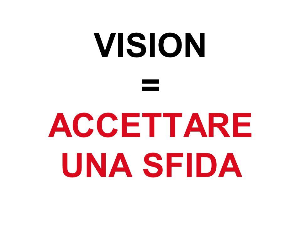 VISION = ACCETTARE UNA SFIDA