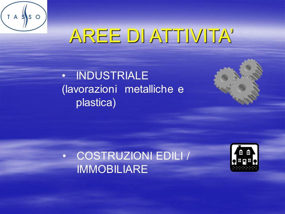 AREE DI ATTIVITA INDUSTRIALE (lavorazioni metalliche e plastica) COSTRUZIONI EDILI / IMMOBILIARE