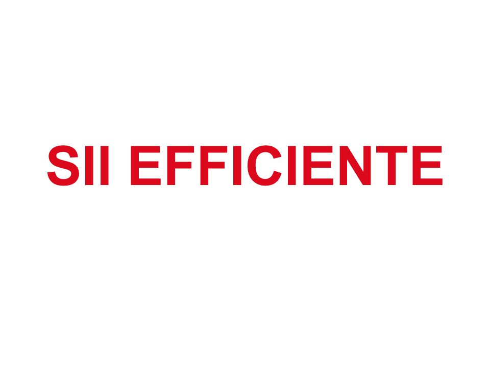 SII EFFICIENTE