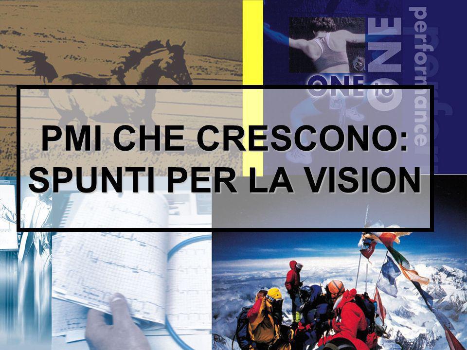 1 PMI CHE CRESCONO: SPUNTI PER LA VISION