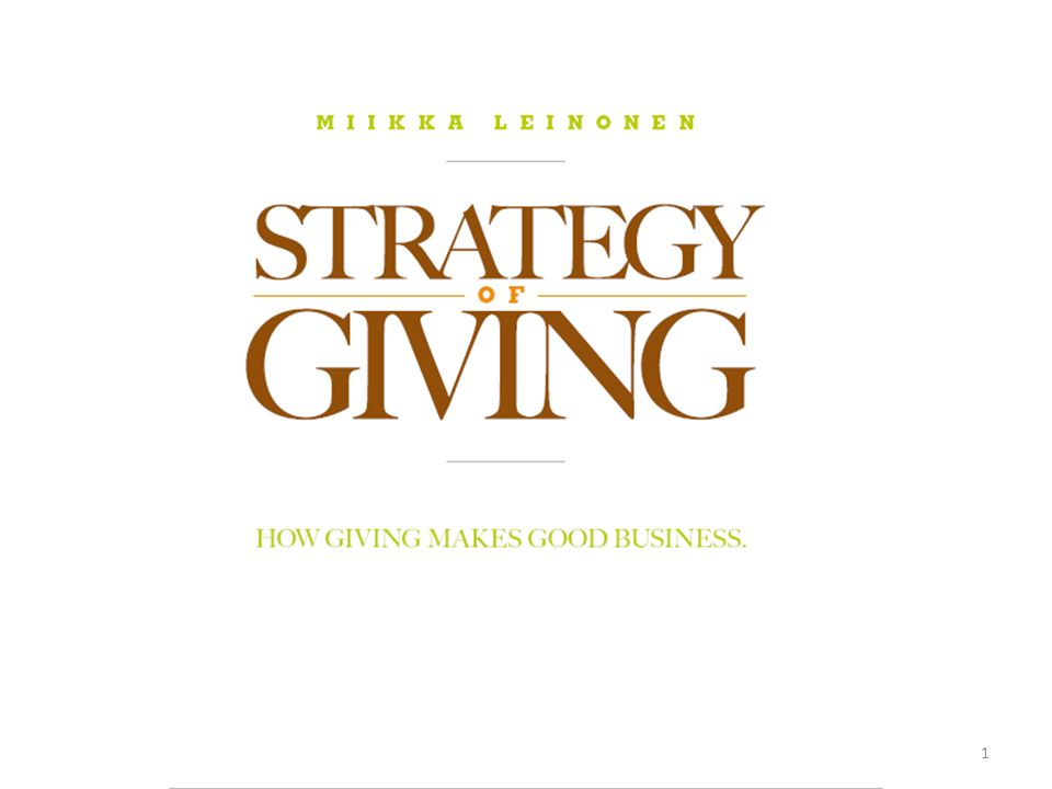 5 Cinque modi per utilizzare la Strategia del Dare 22