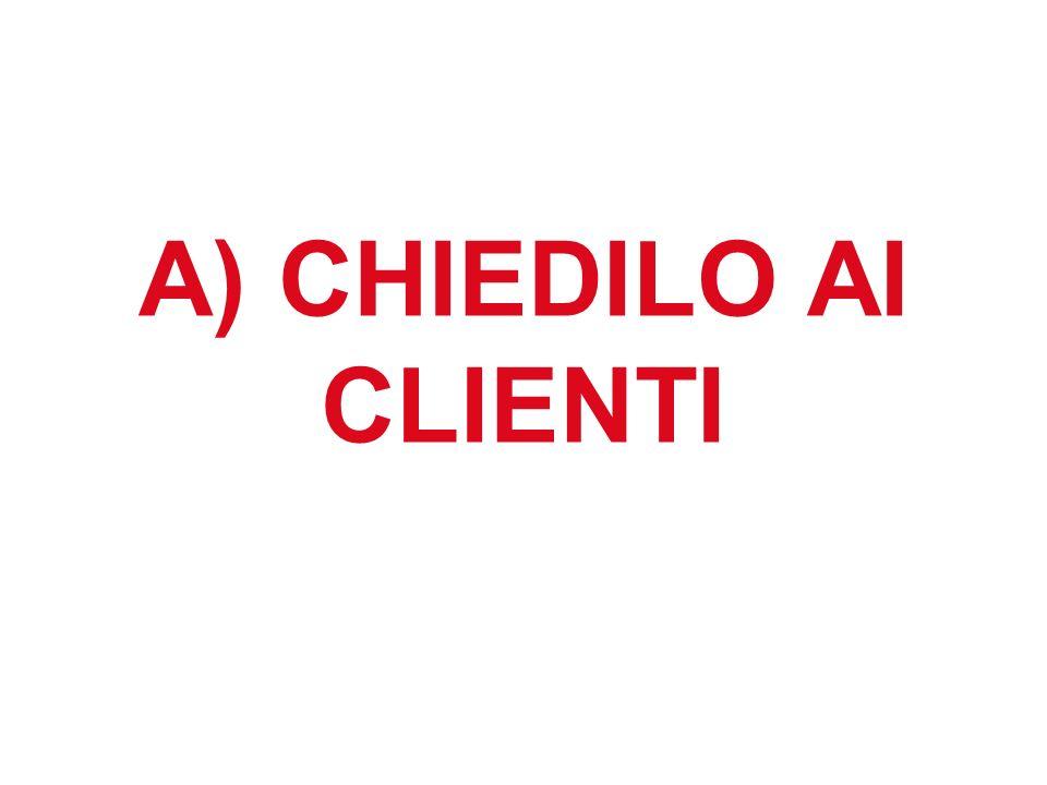 A) CHIEDILO AI CLIENTI