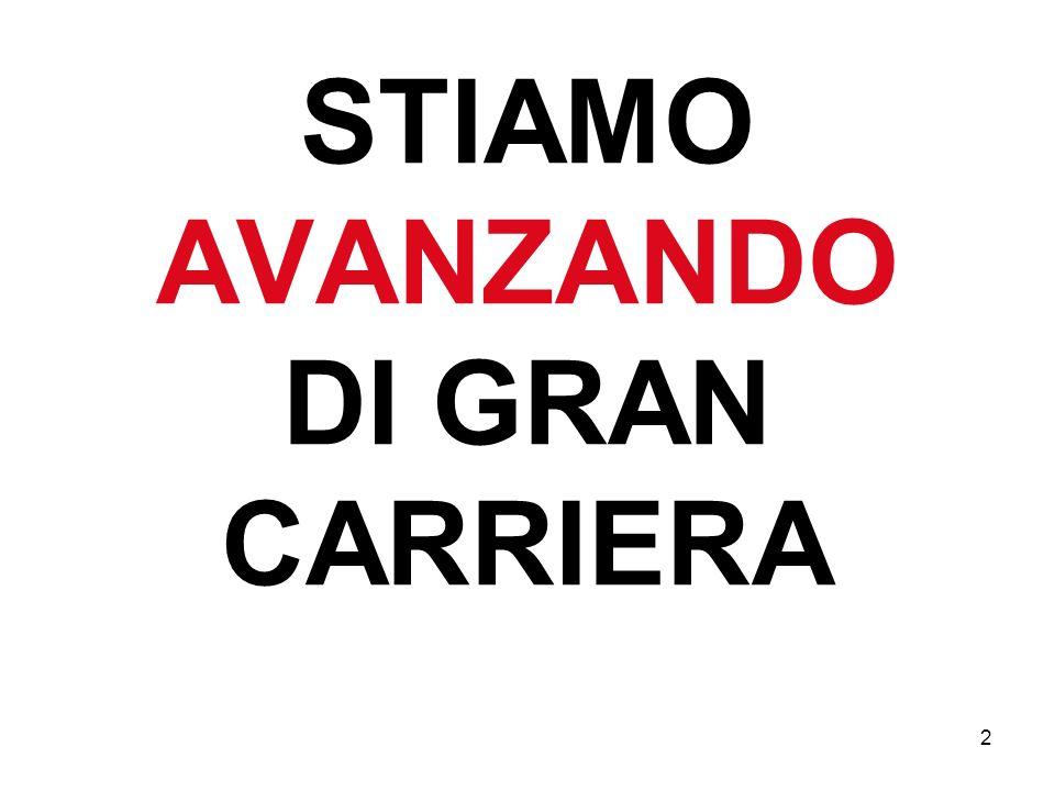 2 STIAMO AVANZANDO DI GRAN CARRIERA