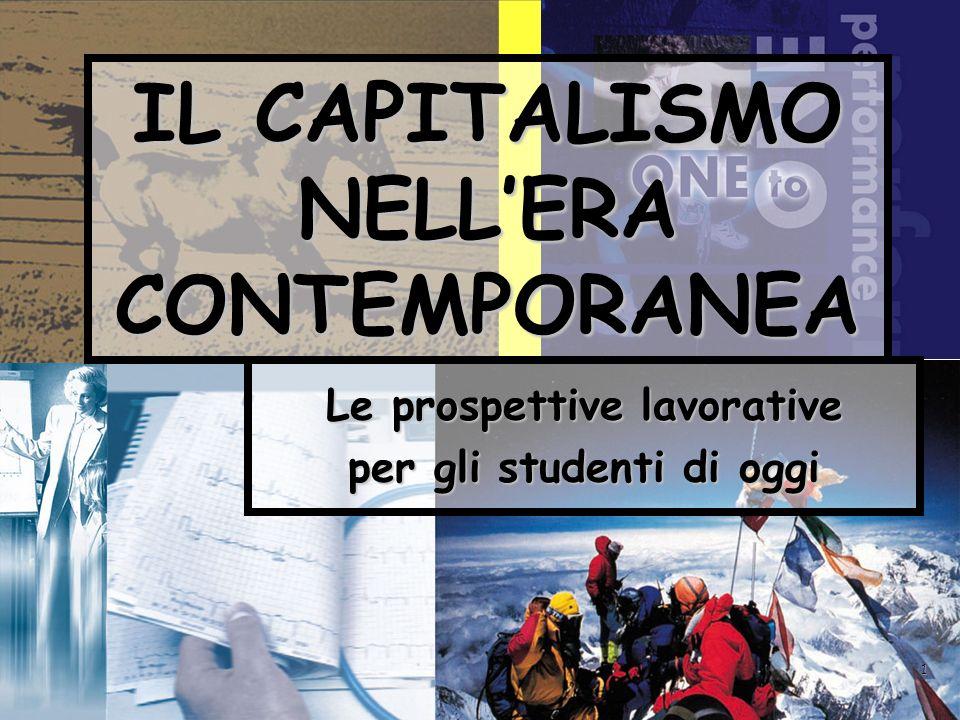 1 IL CAPITALISMO NELLERA CONTEMPORANEA Le prospettive lavorative per gli studenti di oggi