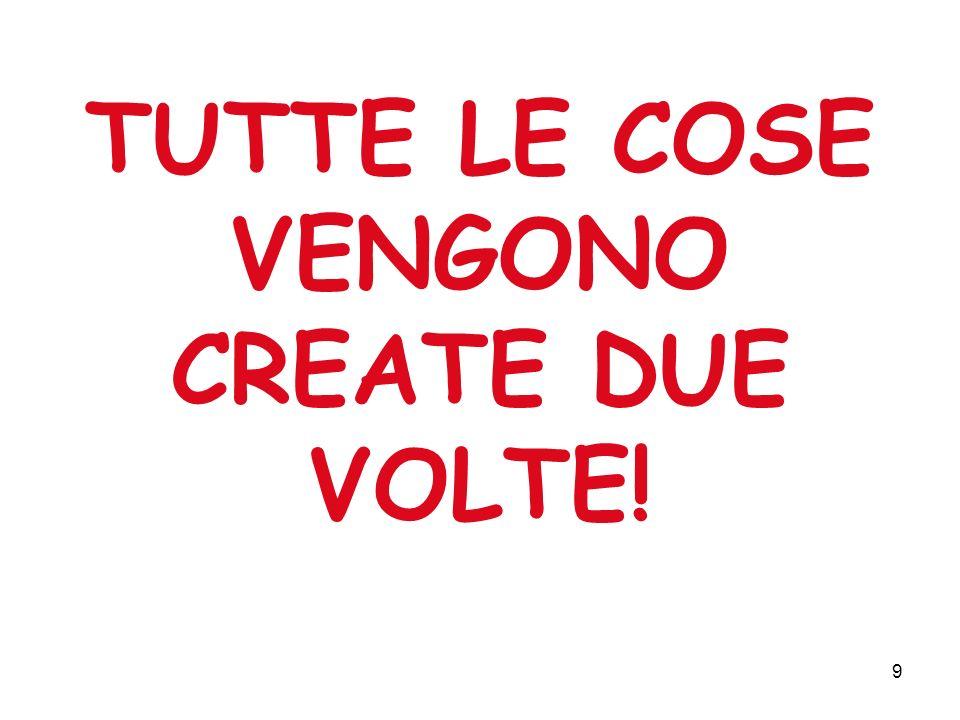 9 TUTTE LE COSE VENGONO CREATE DUE VOLTE!