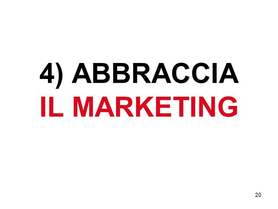 20 4) ABBRACCIA IL MARKETING